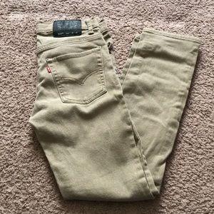 Boys Levi's Khaki Jeans